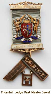 Photo of a Thornhill Lodge Past Masters Jewel